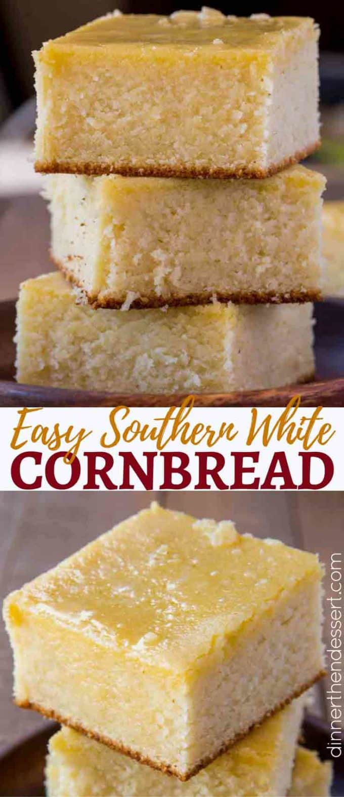 Quick and Easy to make, this Southern Cornbread is perfect and not too sweet!