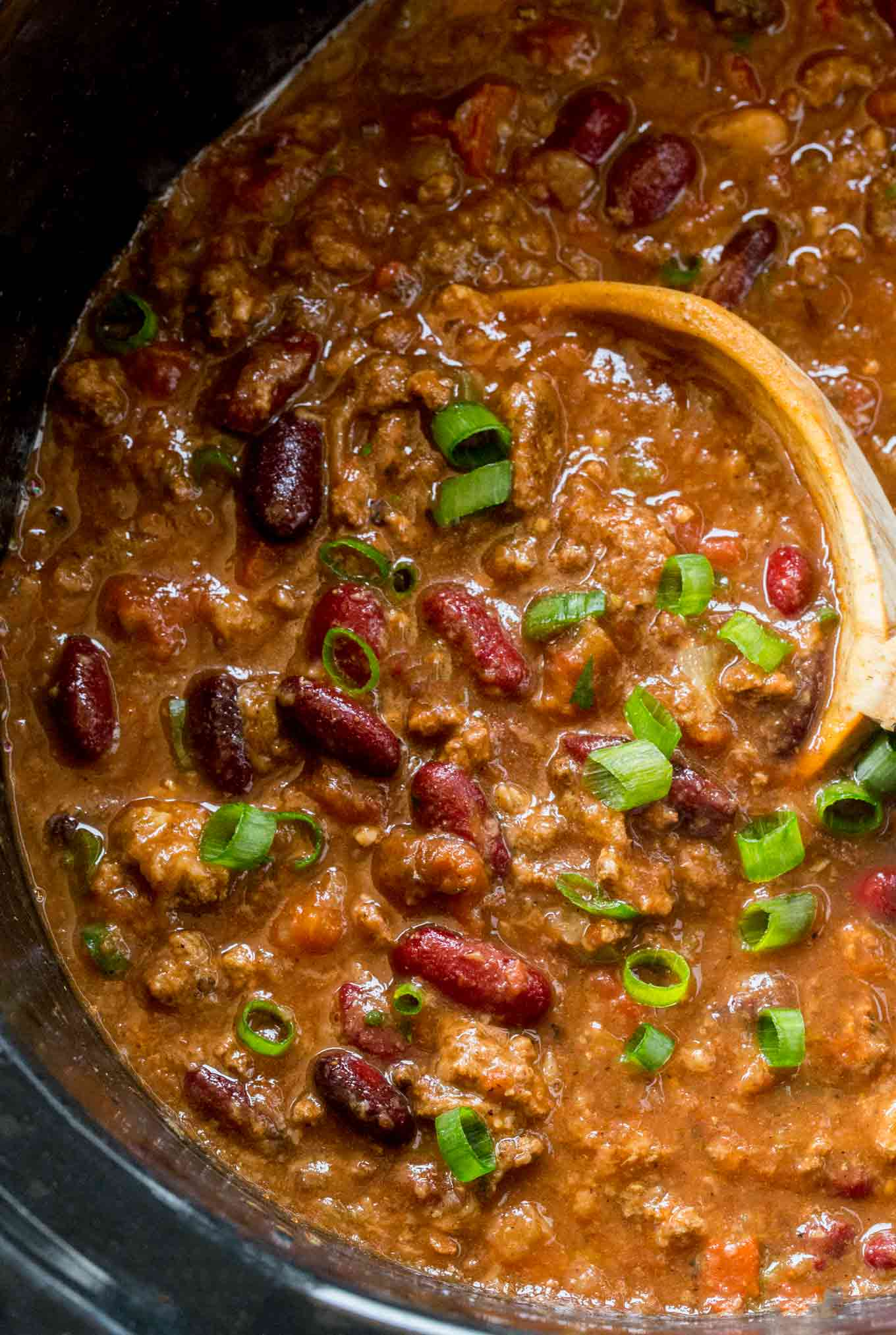 chili slow cooker cooker beef chili dinner then dessert 30927