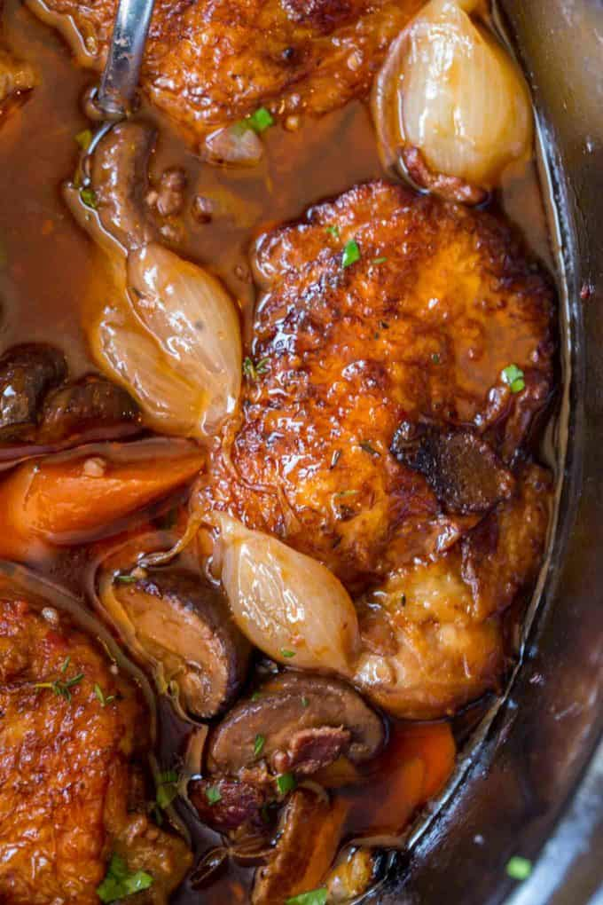 All the classic French flavors of Coq Au Vin with a fraction of the effort!
