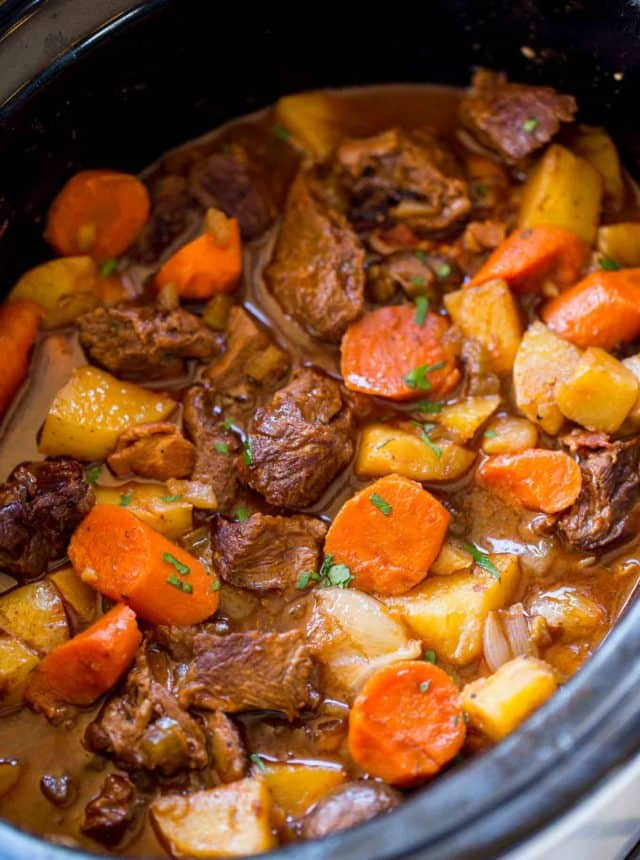 Rich, hearty and delicious Crock Pot Guinness Beef Stew.