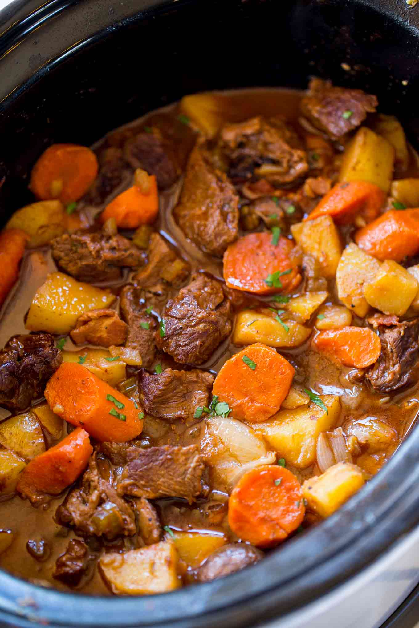 Slow Cooker Guinness Beef Stew Dinner Then Dessert