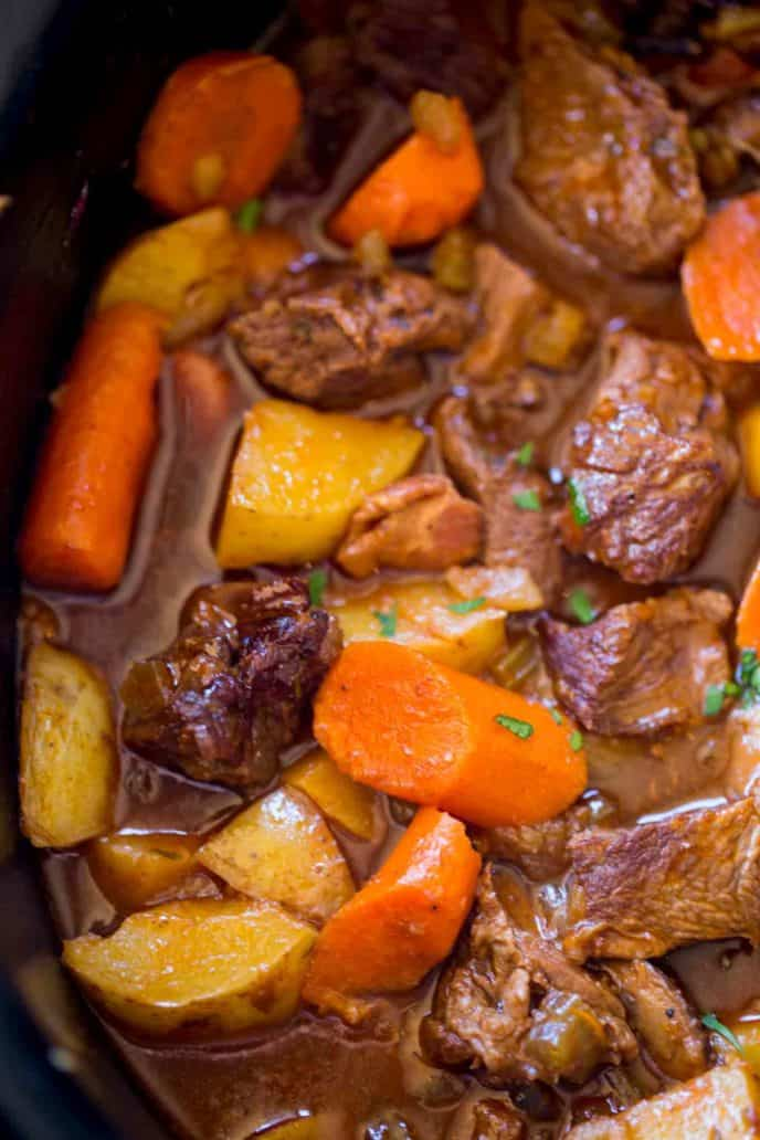 how to make beef stew in slow cooker
