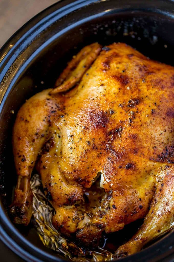 Slow Cooker Rotisserie Chicken - Dinner, Then Dessert-3128