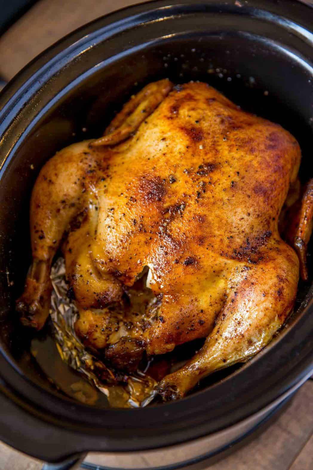 Slow Cooker Rotisserie Chicken Dinner Then Dessert