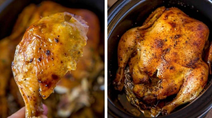 Slow Cooker Rotisserie Chicken - Dinner, then Dessert