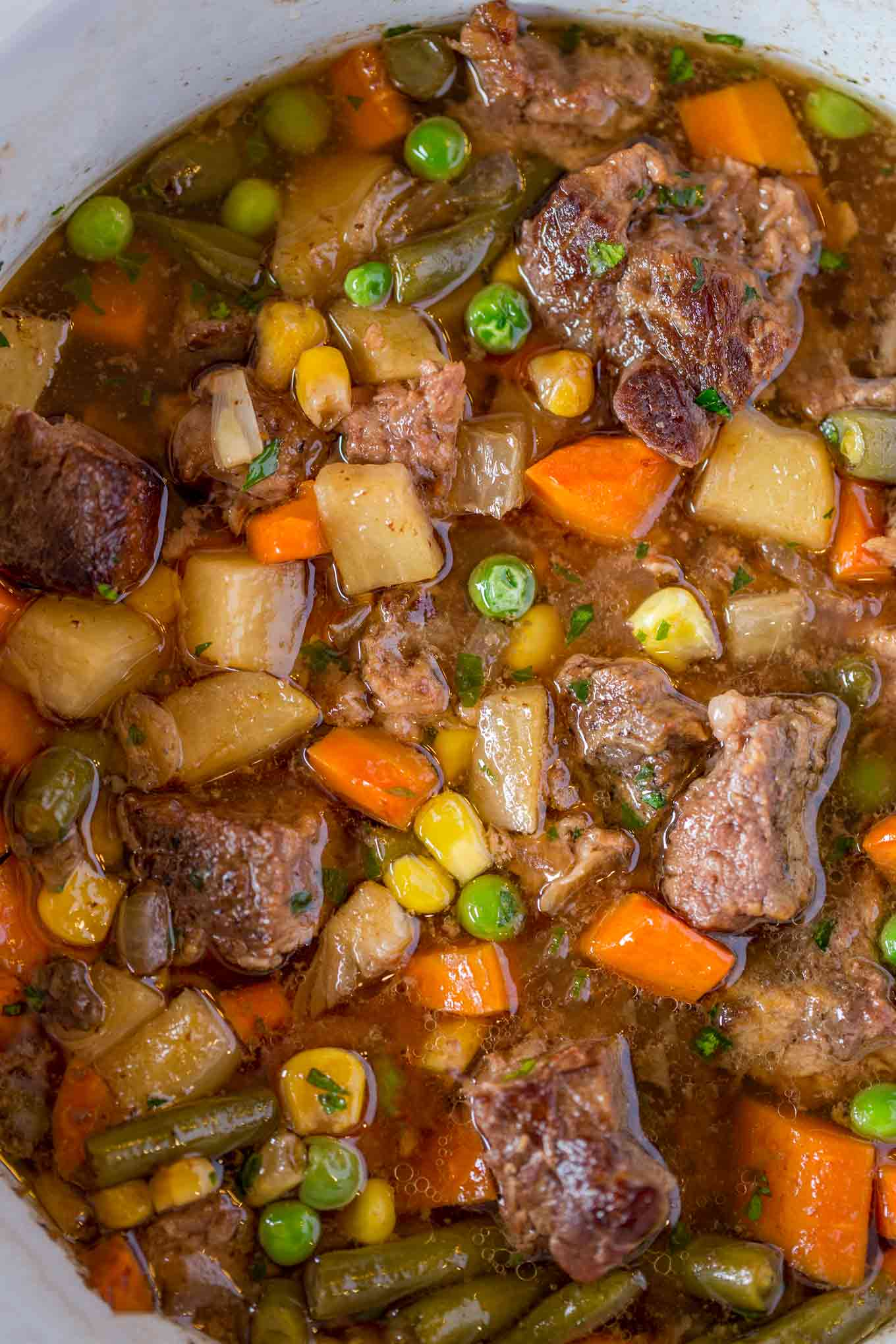 Slow Cooker Vegetable Beef Soup - Dinner, then Dessert