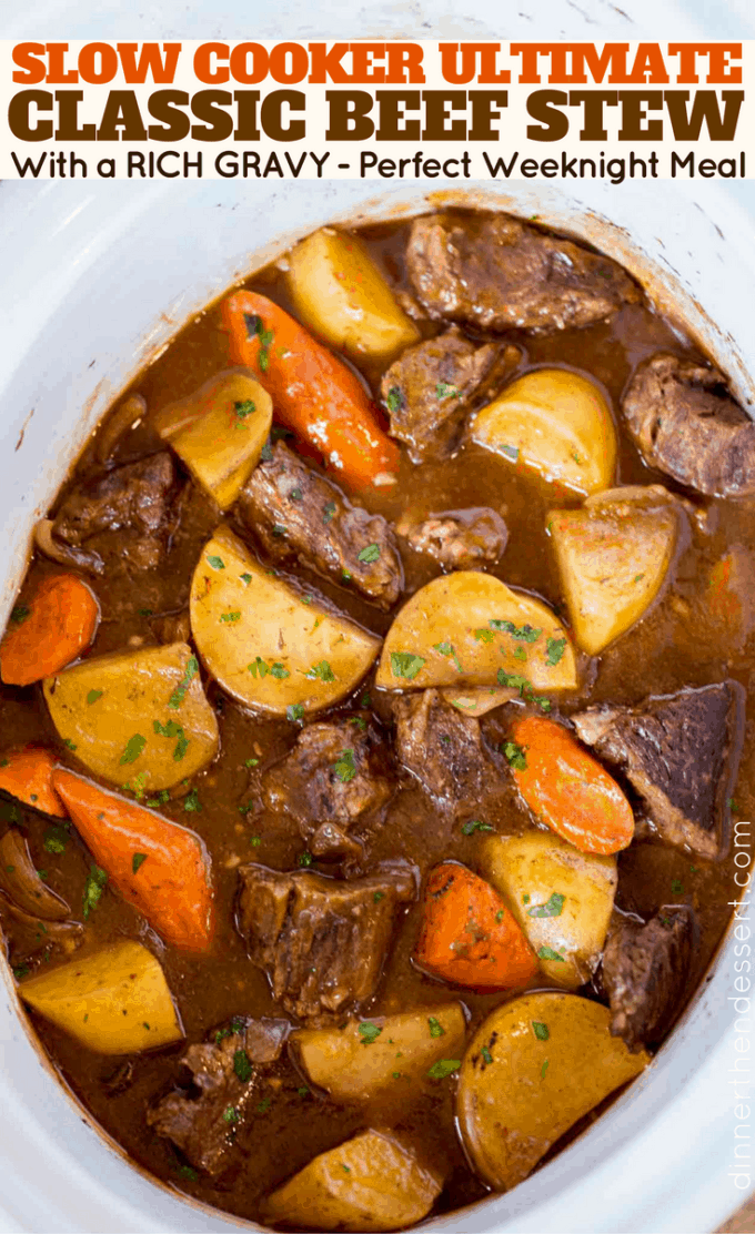 Crock Pot Beef Stew! The tastiest and easiest beef stew you'll ever make! And its all done in your crock pot!