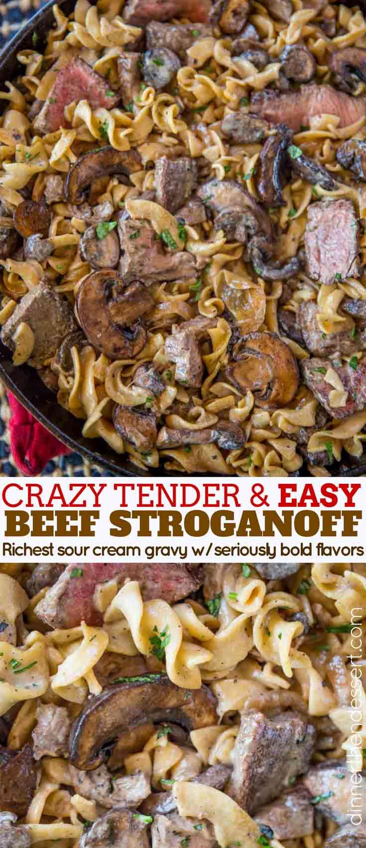 Beef Stroganoff Collage