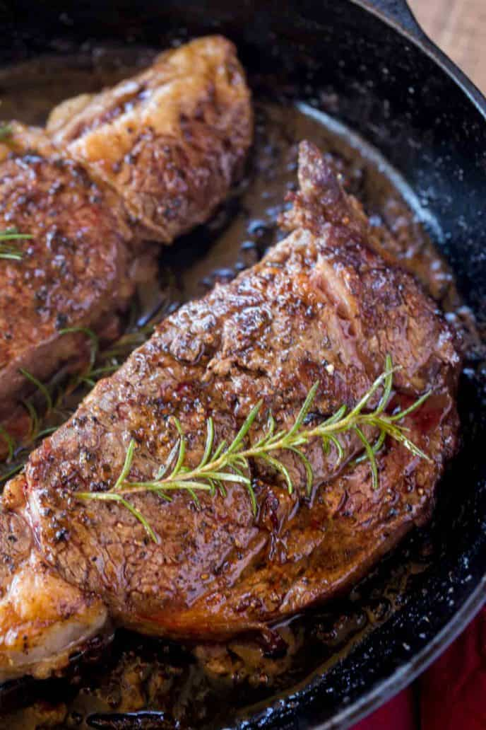 The most tender and EASY ribeye steak you'll ever eat. Butter basted in a cast iron skillet.