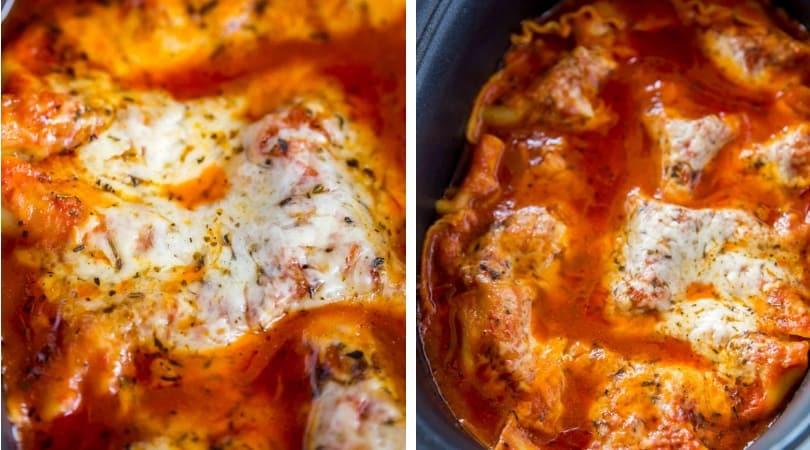 slow cooker lasagna - dinner, then dessert