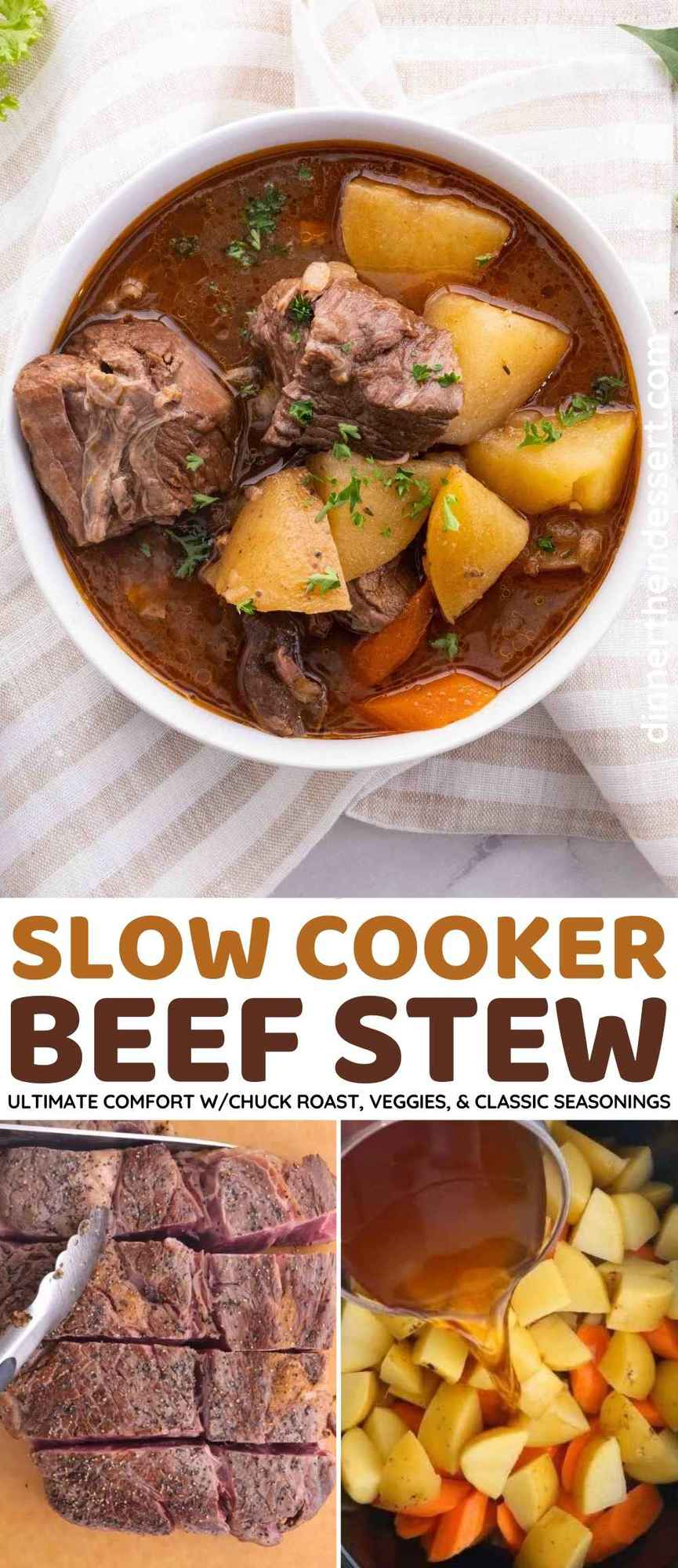 Ultimate Slow Cooker Beef Stew Collage
