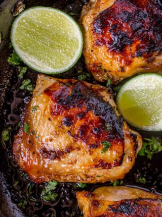 The easiest chicken you'll ever make, 4 ingredient honey lime chicken.