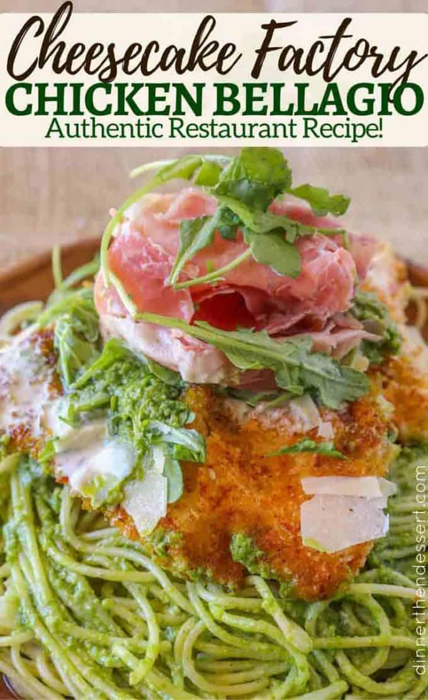 chicken bellagio with crispy chicken