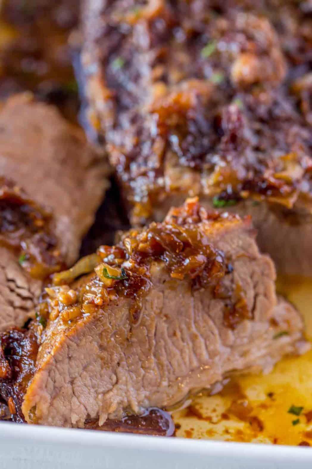 Tender and juicy beef brisket