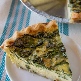 Spinach Quiche Slice
