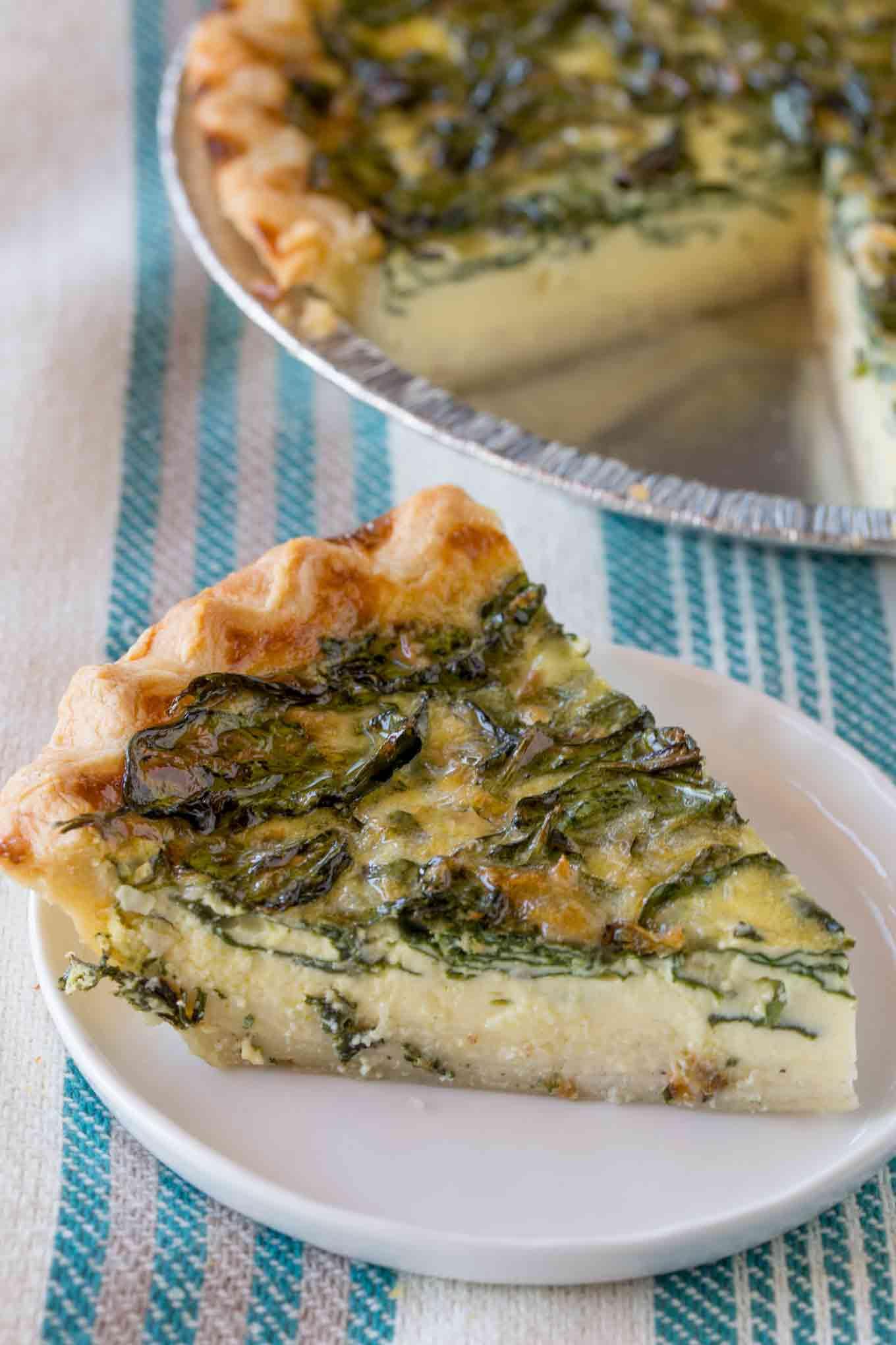 Easy spinach quiche quiche florentine dinner then dessert spinach quiche forumfinder Gallery
