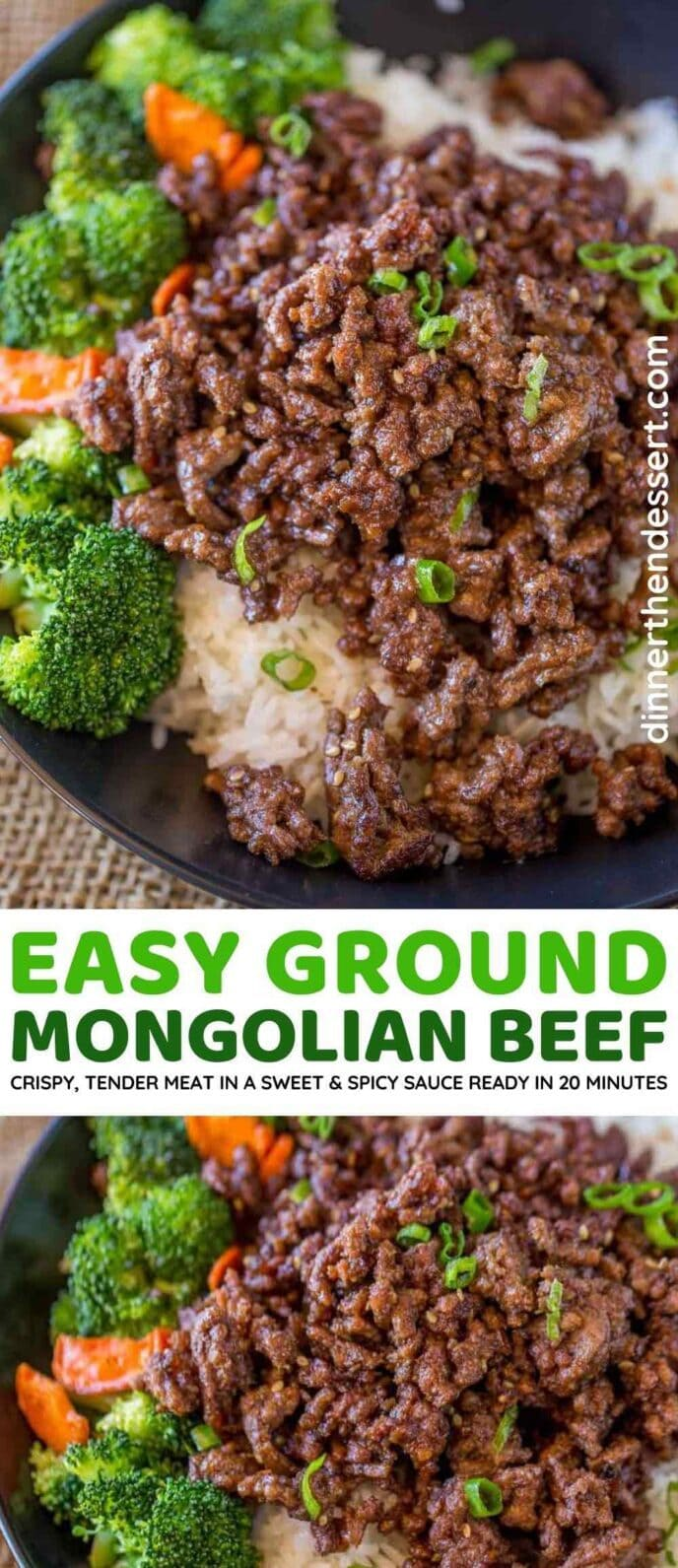 Easy Ground Mongolian Beef collage