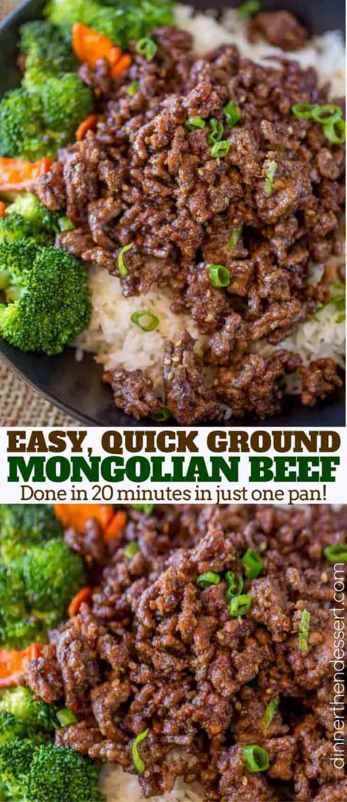 Mongolian beef made with ground beef