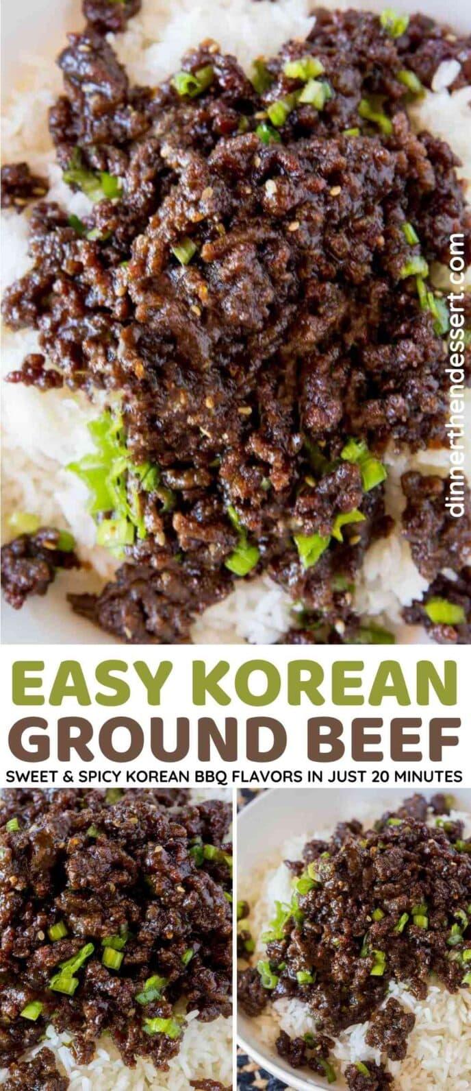 Korean Ground Beef Collage