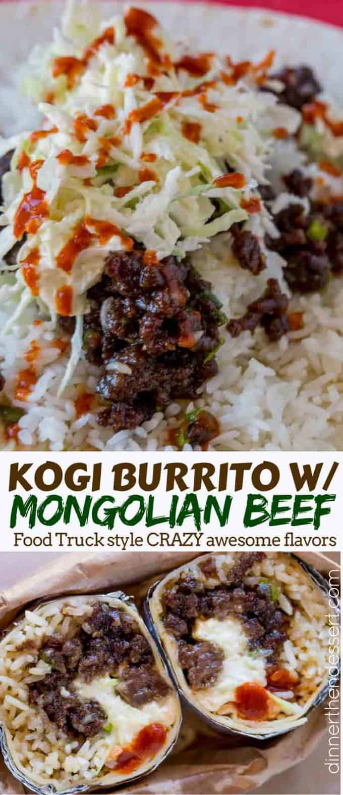 Mongolian Beef Food Truck Asian Fusion Burrito