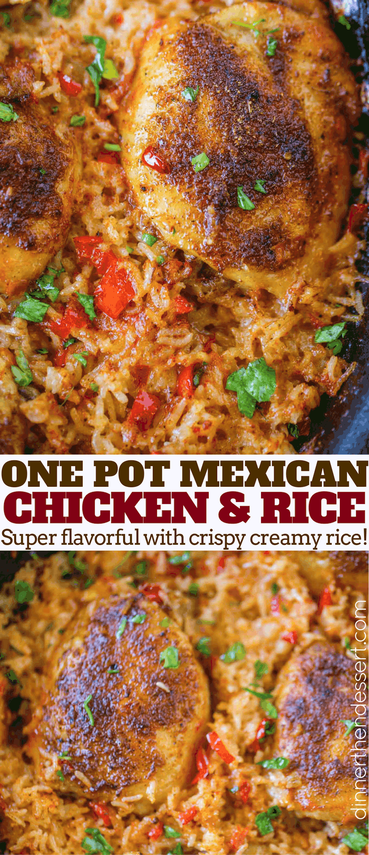 One Pot Mexican Chicken And Rice Dinner Then Dessert