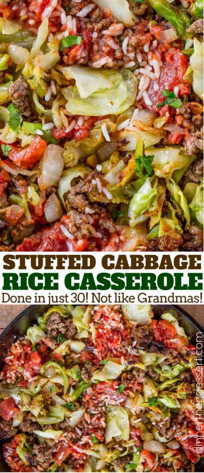 Stuffed cabbage rice casserole pin