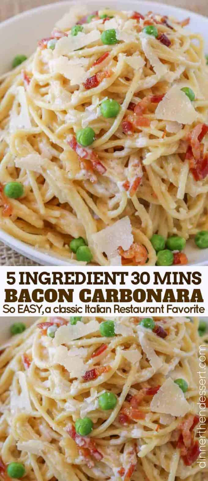 Carbonara Pasta Collage