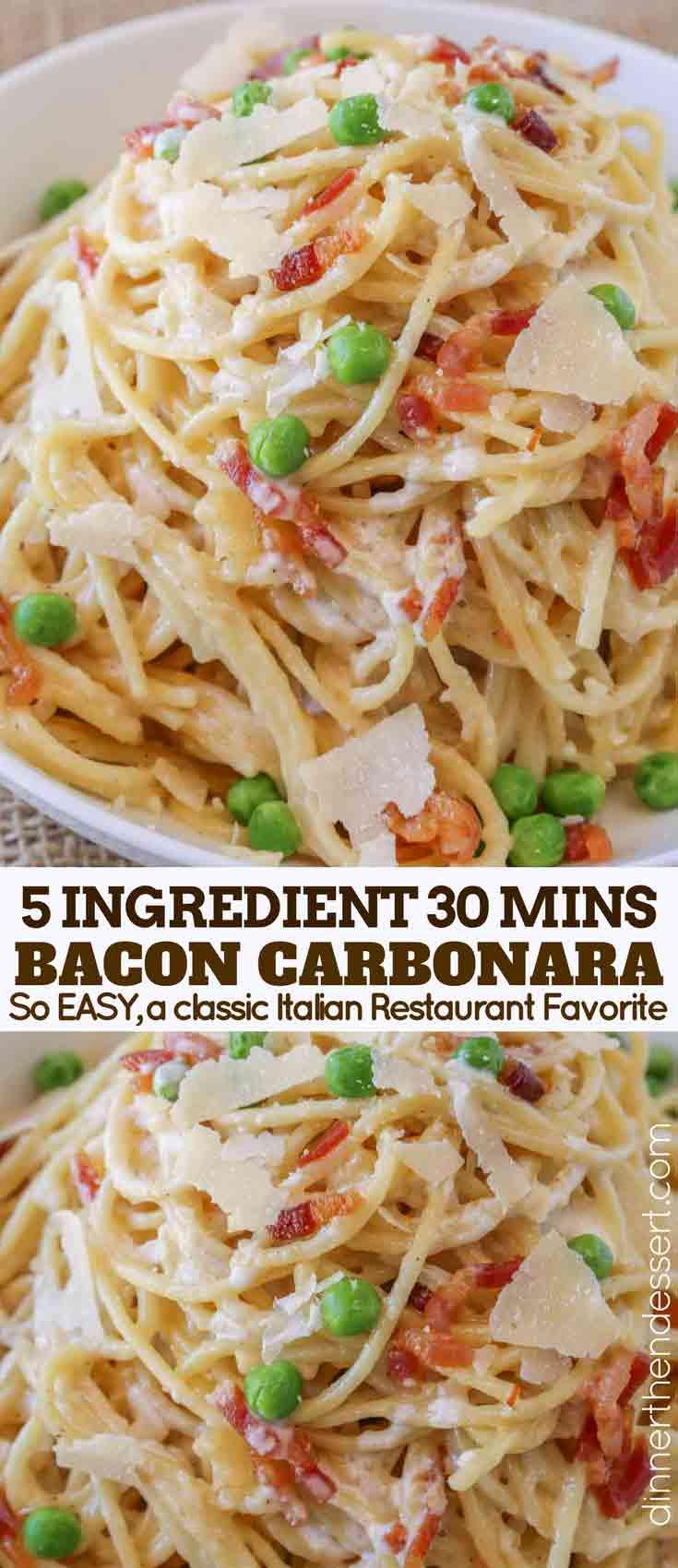 Carbonara Pasta Collage