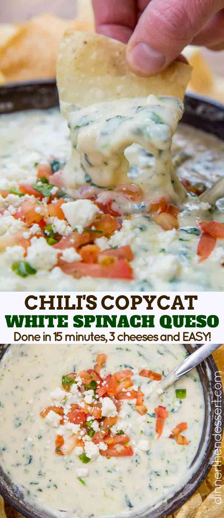 White Spinach Queso Collage Pictures