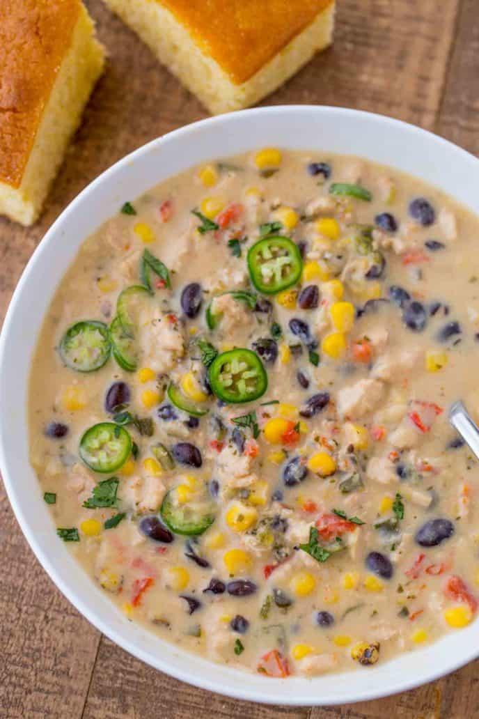 Creamy Chicken Poblano Pepper Soup