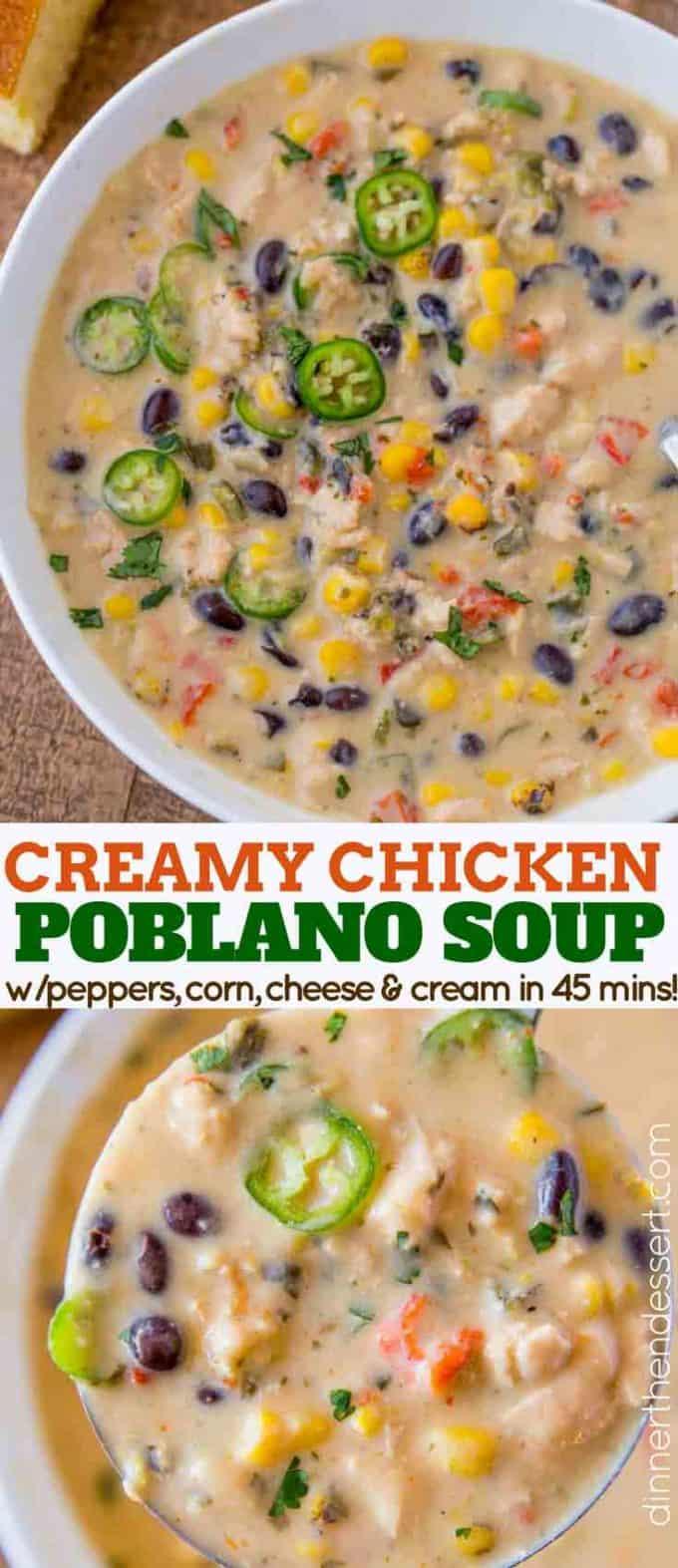 Chicken Poblano Pepper Soup