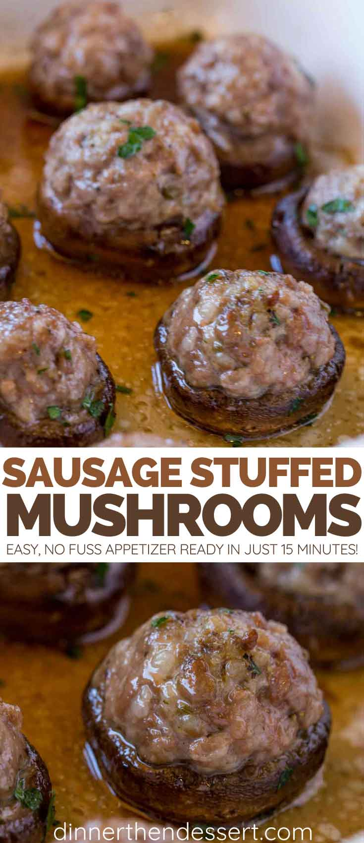 Sausage Stuffed Mushrooms collage