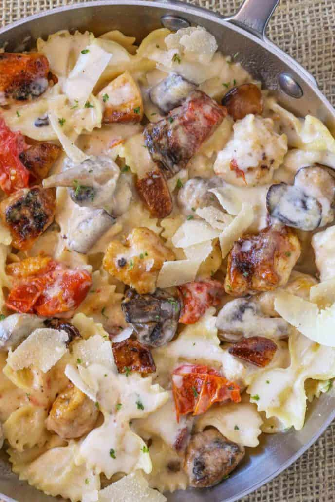 The Cheesecake Factory Farfalle with Chicken and Roasted Garlic