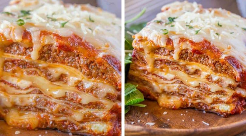 Ultimate Meat Lasagna - Dinner, then Dessert