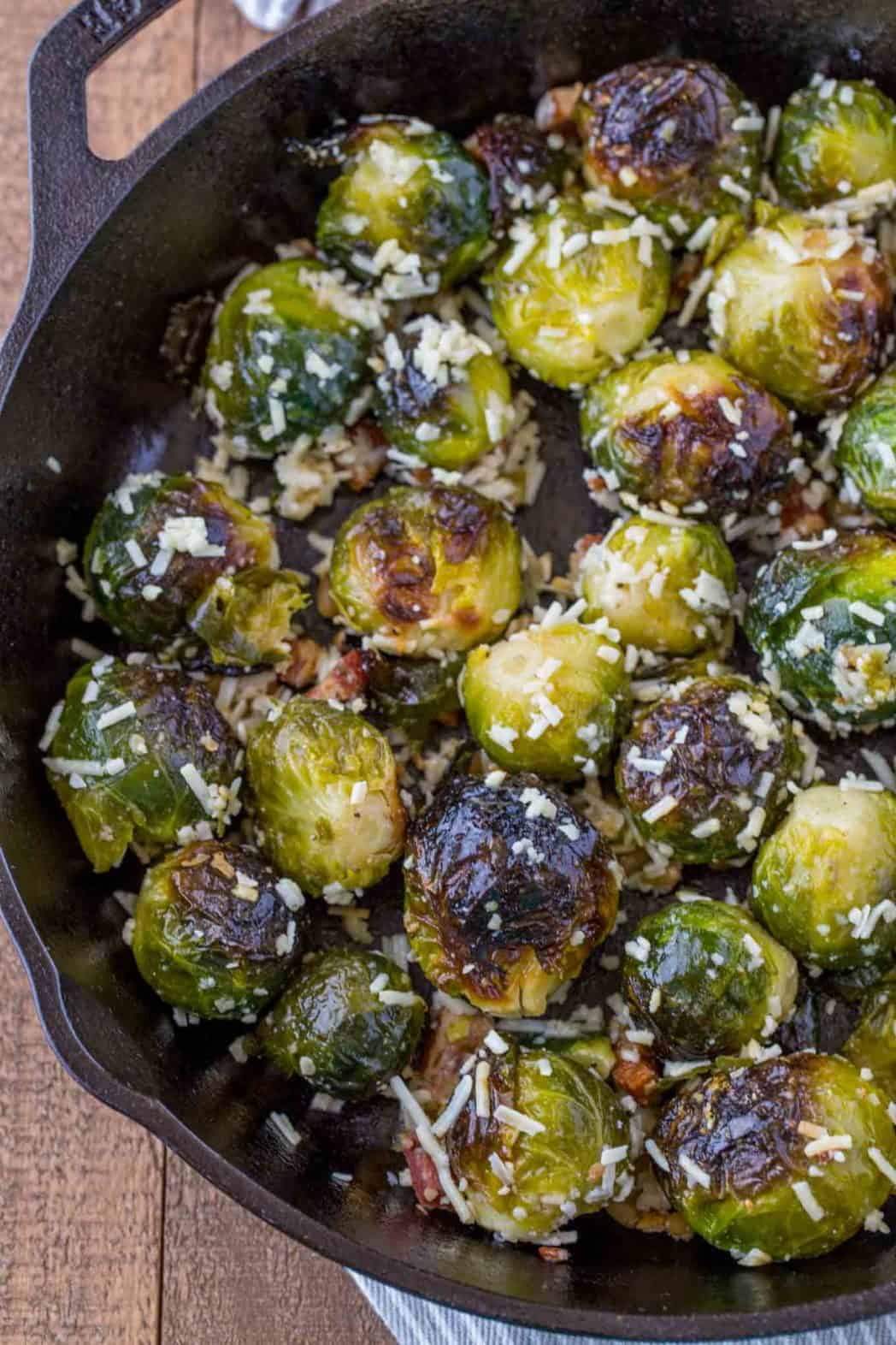 Bacon Parmesan Brussels Sprouts Dinner Then Dessert