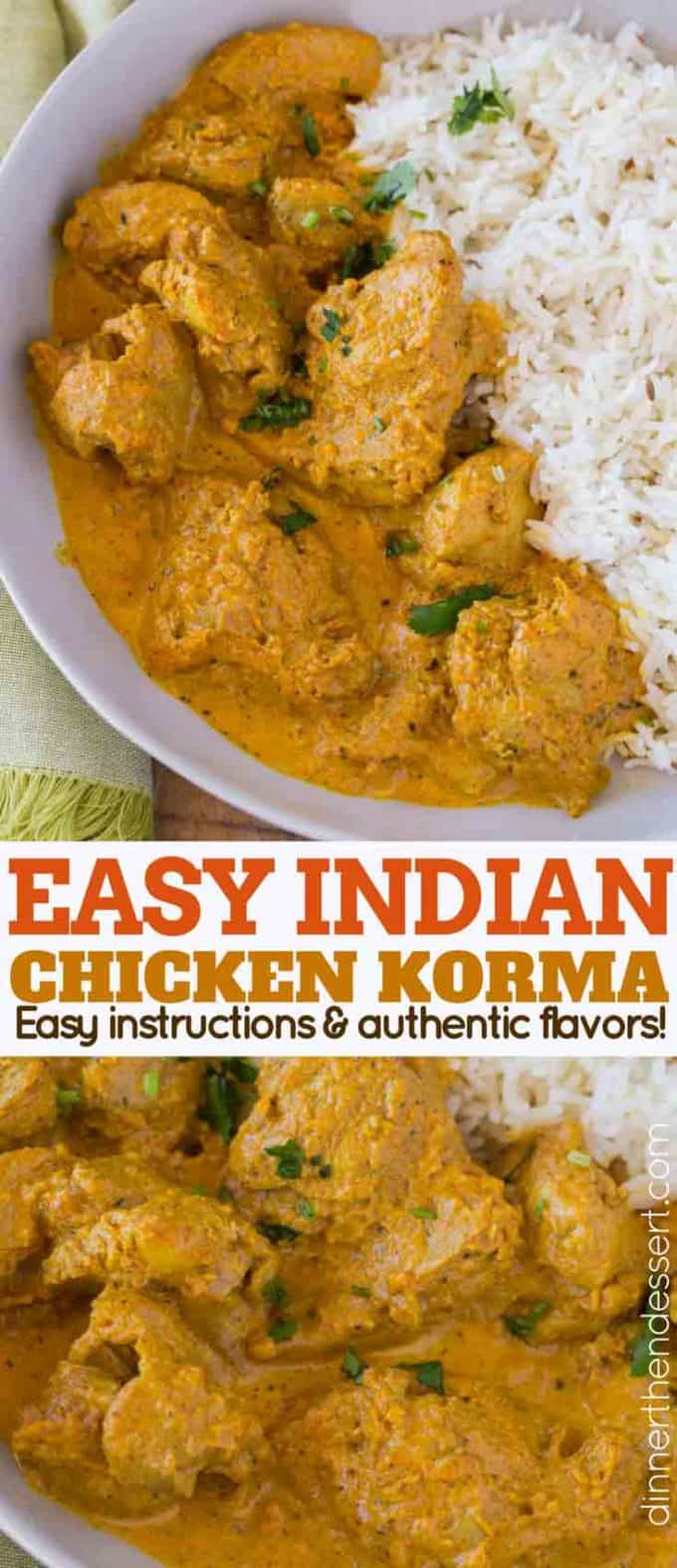 Indian chicken korma dinner then dessert indian chicken korma forumfinder Choice Image