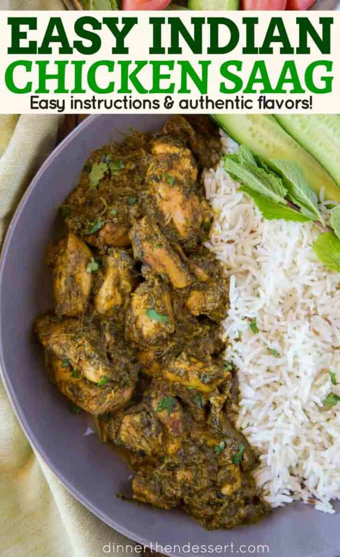 Chicken Saag Recipe with Spinach