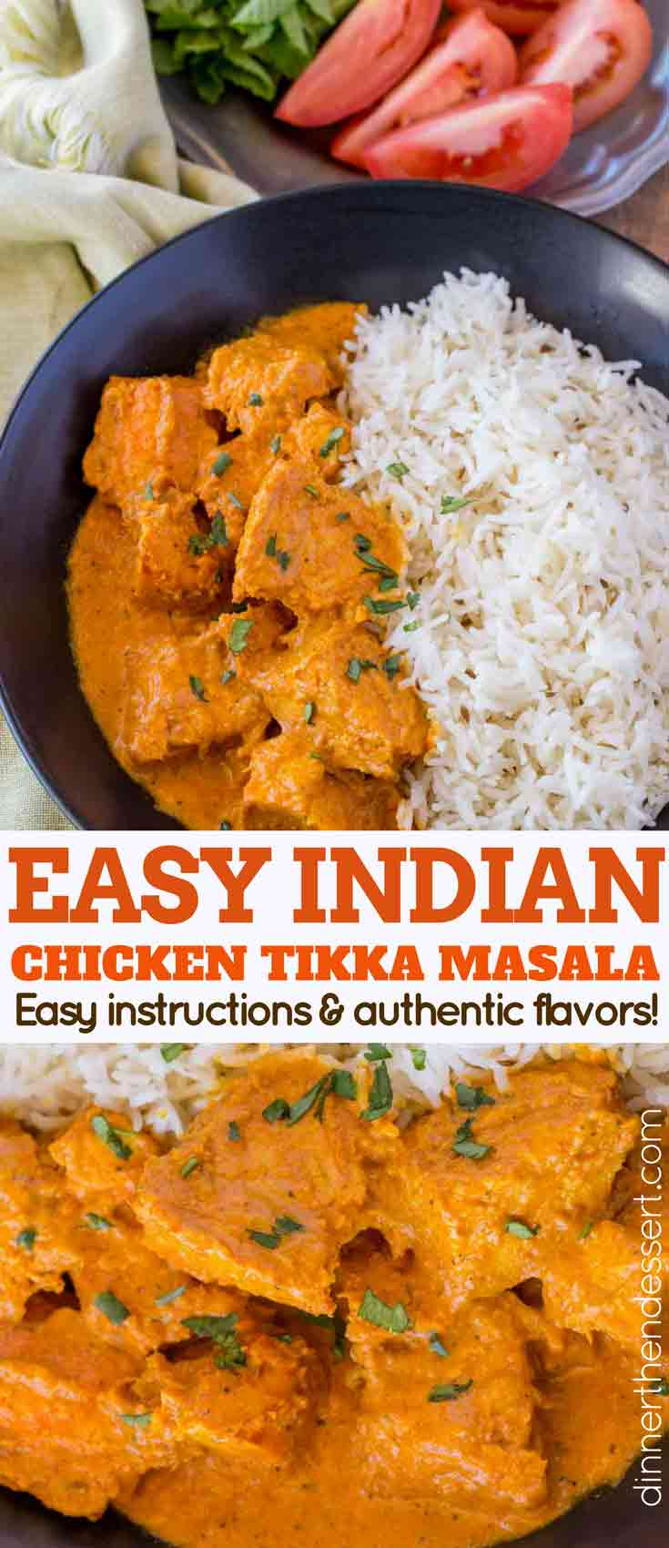 Easy Chicken Tikka Masala Dinner Then Dessert