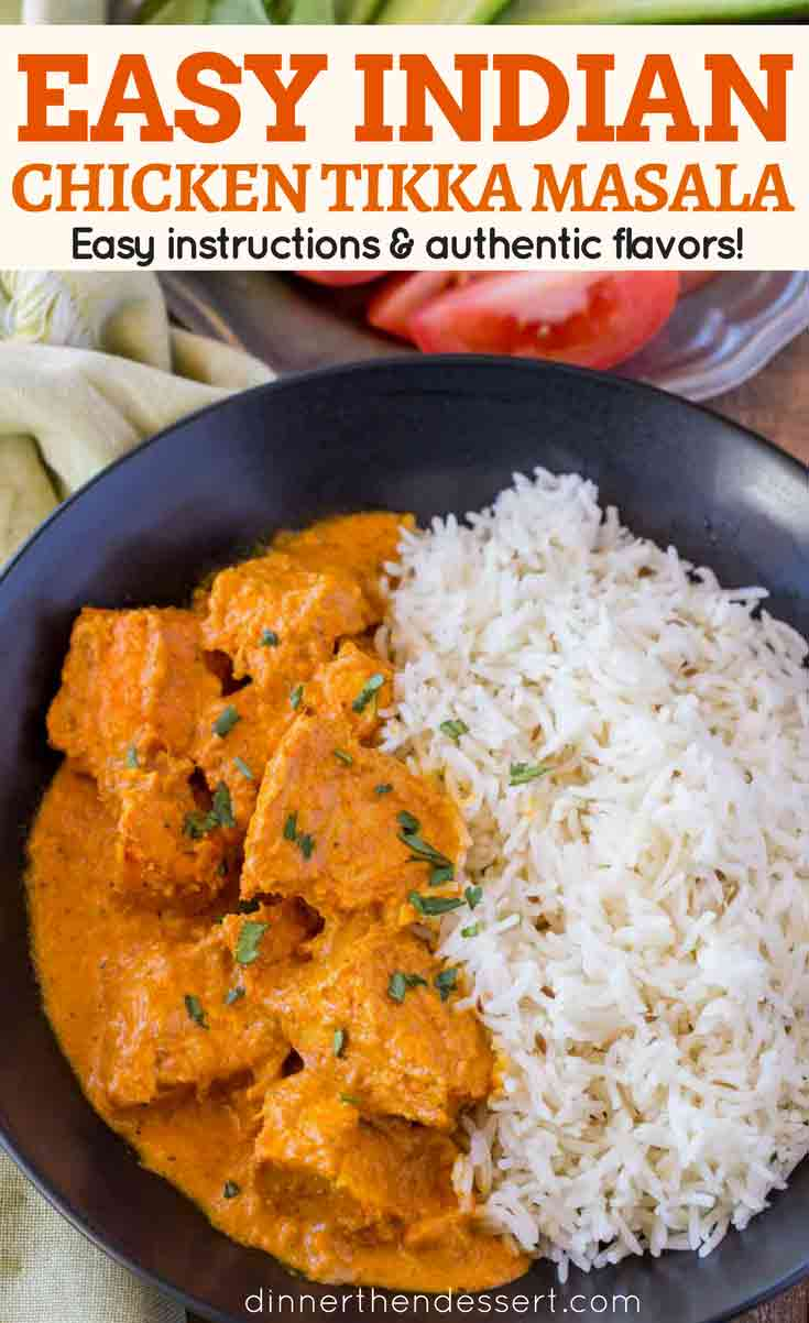 Chicken Tikka with Rice in bowl