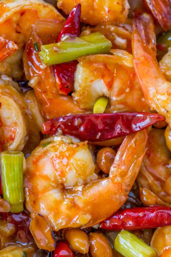 Healthy Kung Pao Shrimp