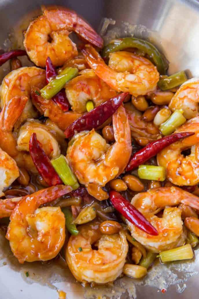 Kung Pao Shrimp Dinner Then Dessert
