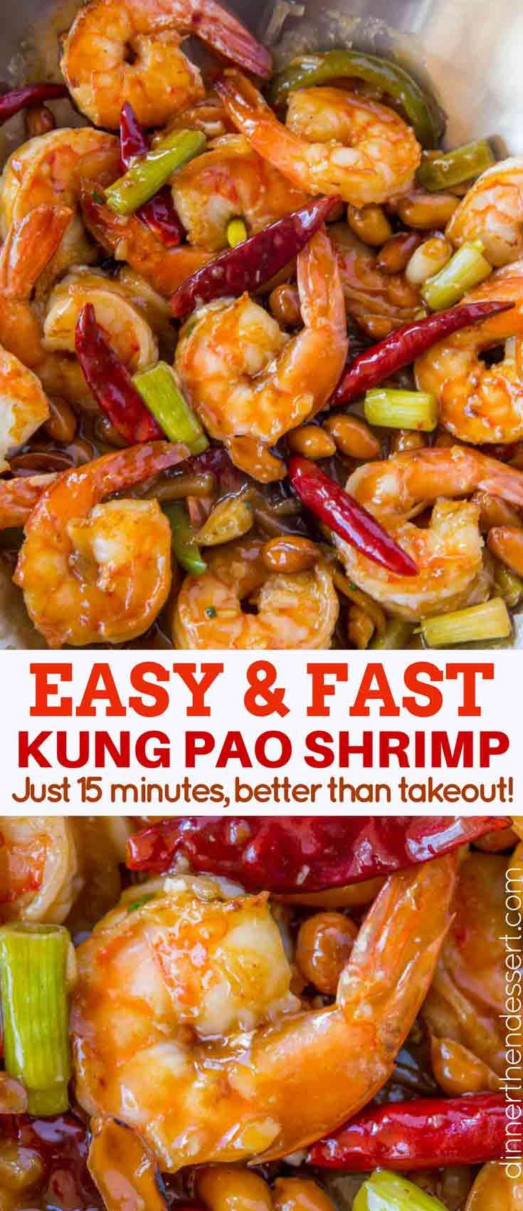 Kung pao shrimp dinner then dessert quick kung pao shrimp forumfinder Choice Image