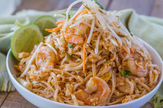 Easy Pad Thai Dinner Then Dessert