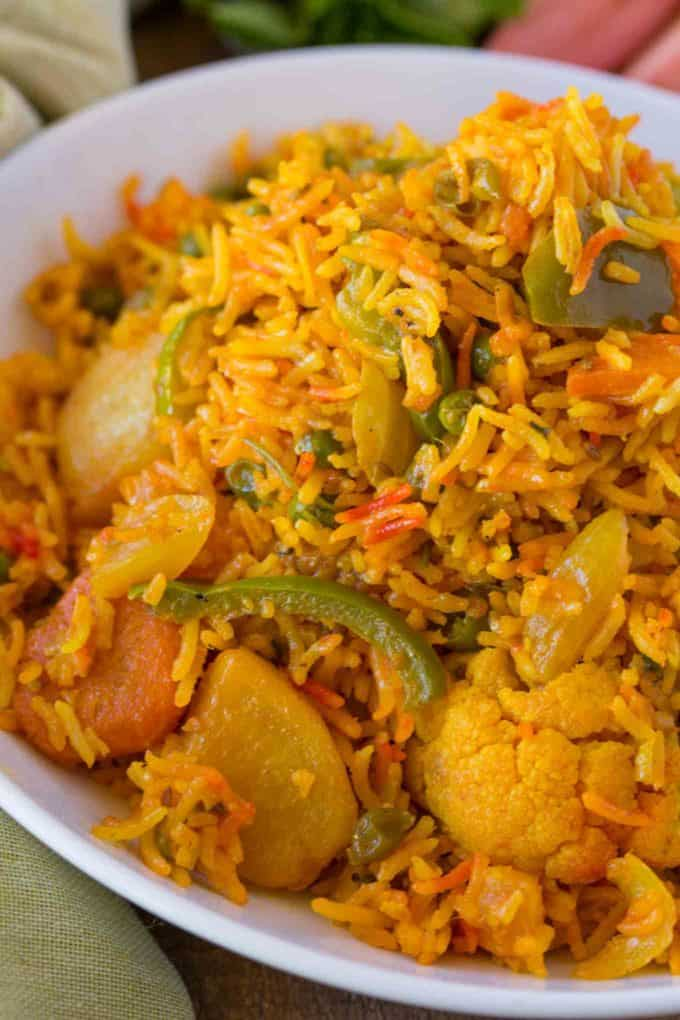 Easy Vegetable Biryani - Dinner, then Dessert