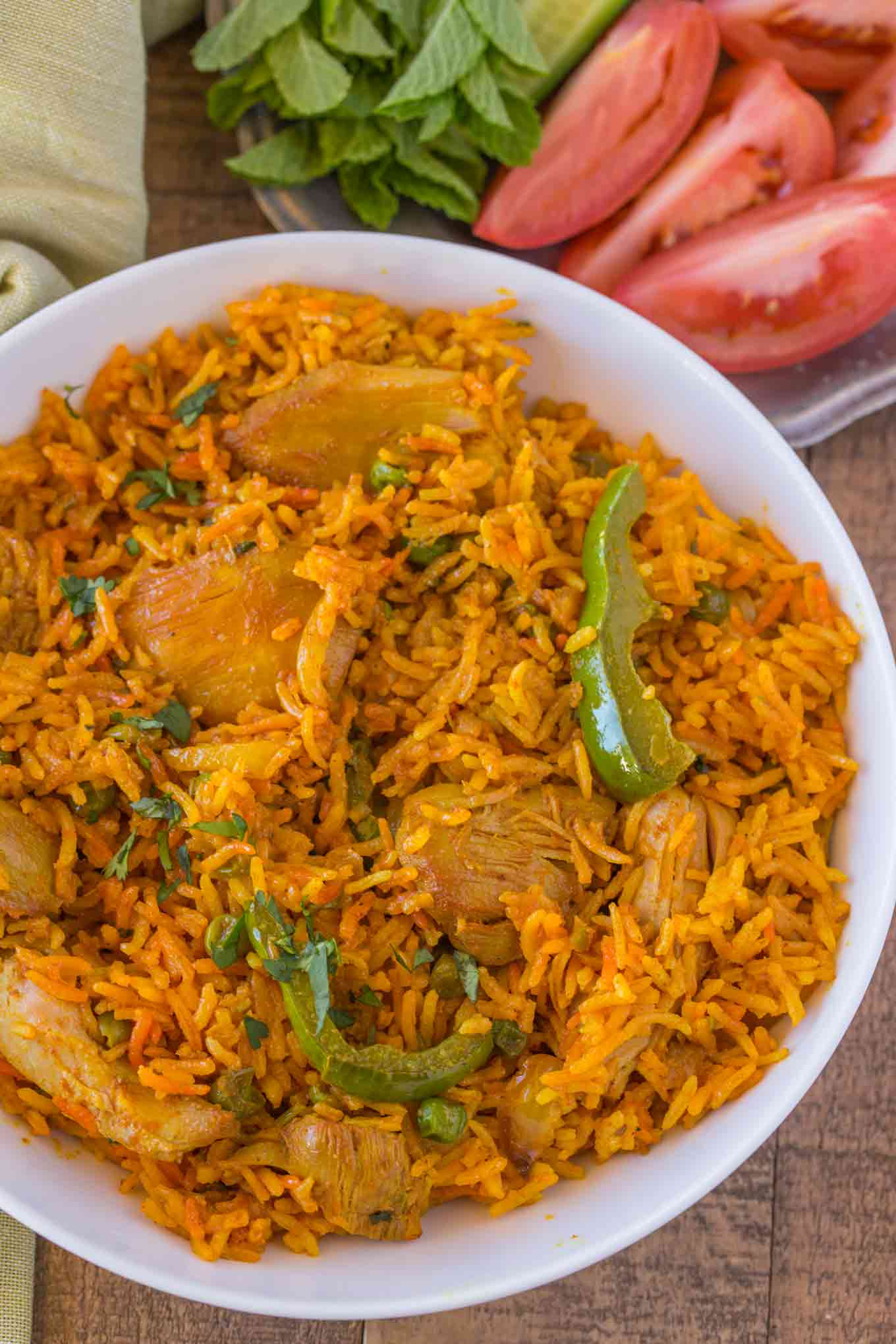 Chicken biryani dinner then dessert for Chicken biryani at home