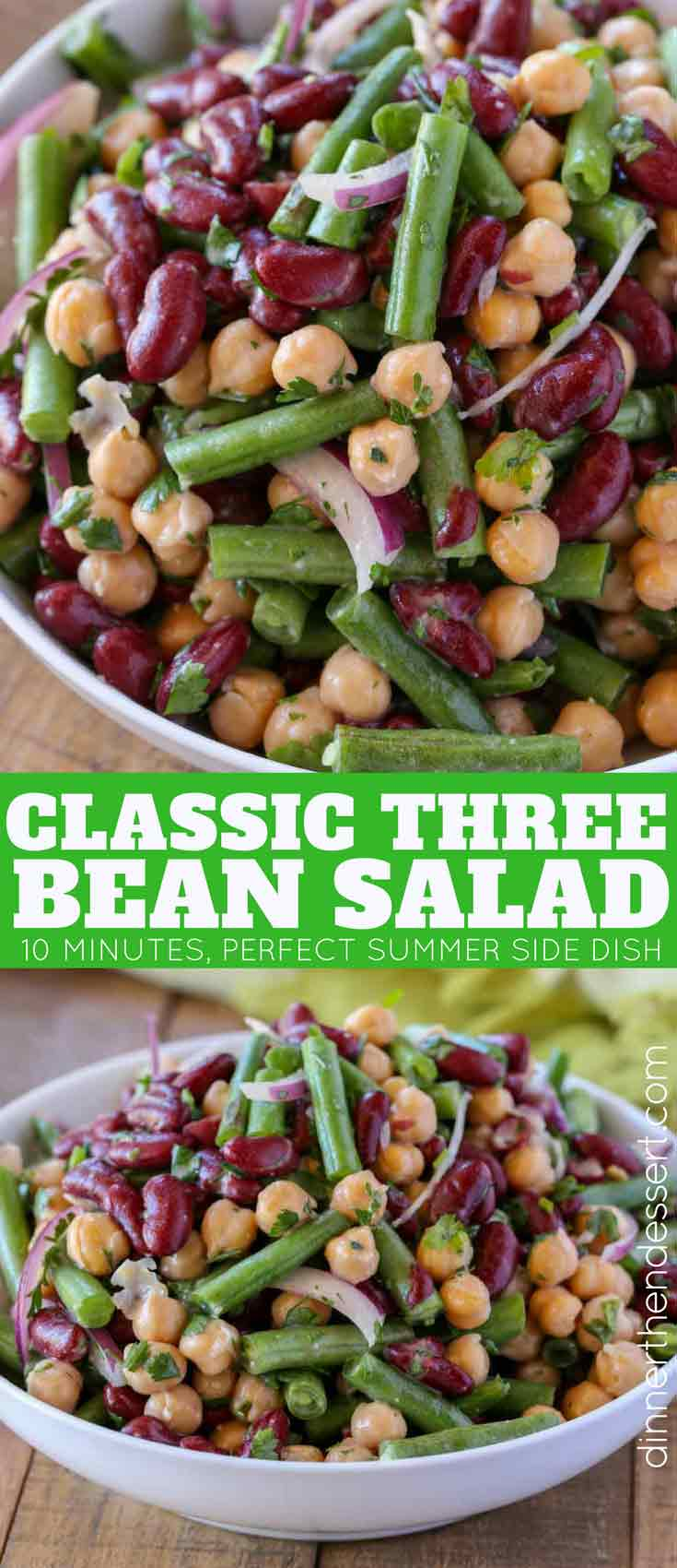 Old Fashioned Three Bean Salad Recipe