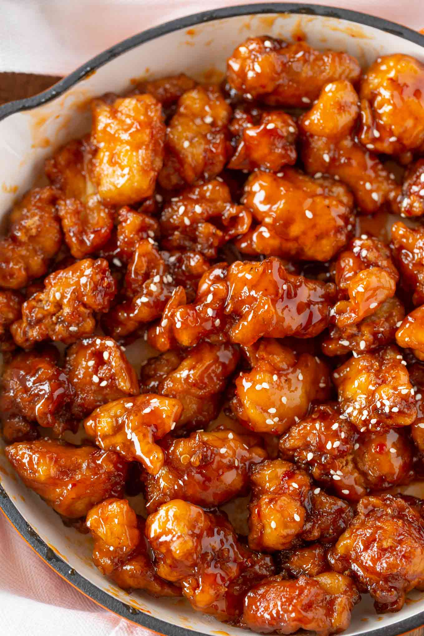 Crispiest Chinese Sesame Chicken In 30 Mins Dinner Then Dessert