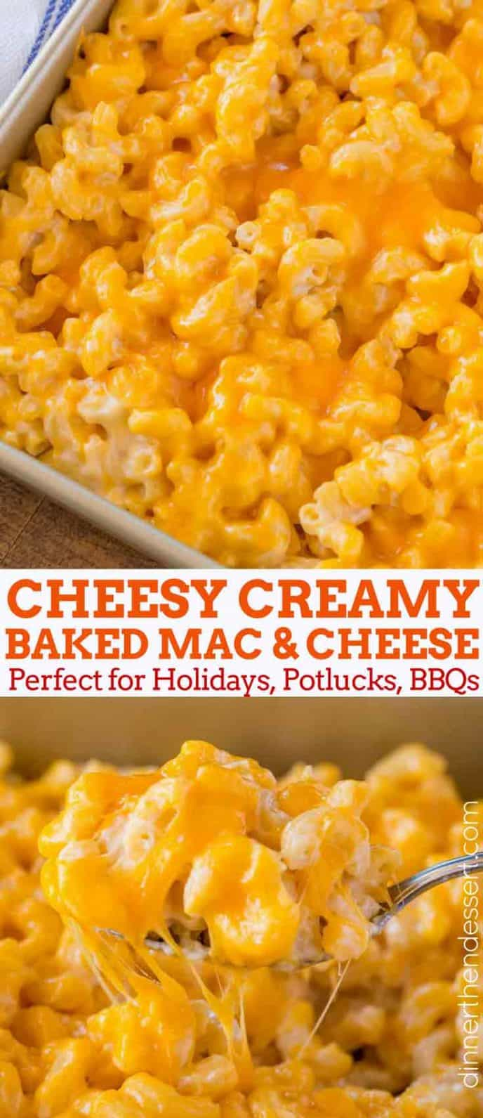 Cheesy Baked Mac and Cheese collage