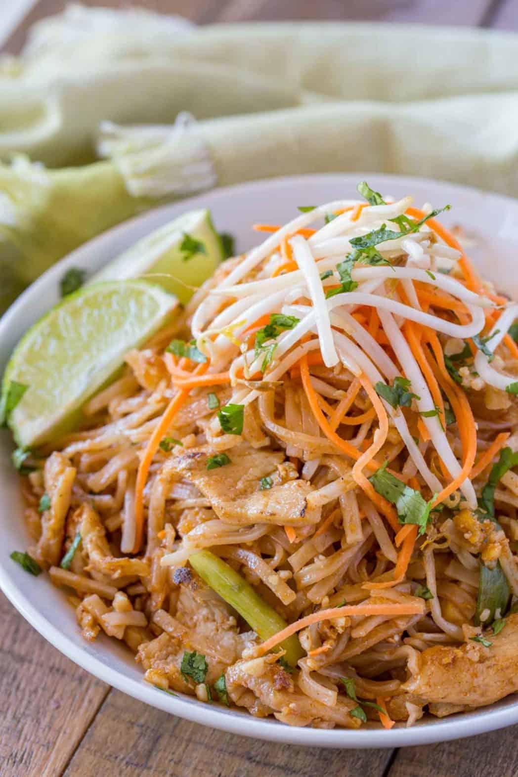 Chicken Pad Thai Dinner Then Dessert