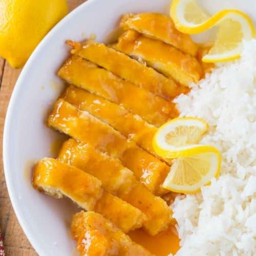 Chinese Lemon Chicken Dinner Then Dessert